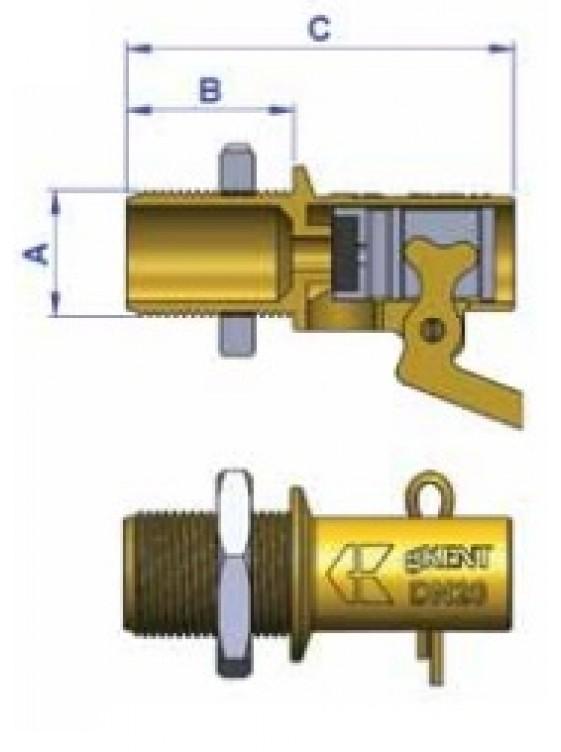 """G-Kent Brass Ball Float Valve L/Duty 15mm (1/2"""")"""