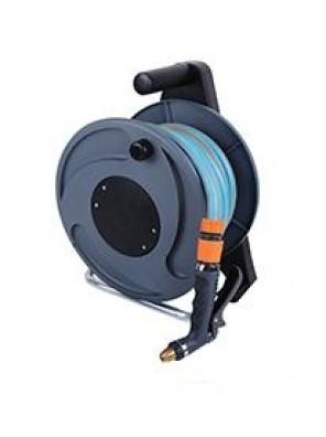 LOCKFLEX Deluxe Hose Reel W 20m Hose+Spray Gun+Accs L62330