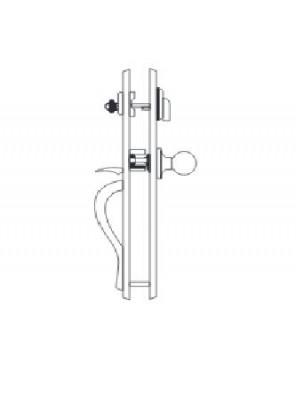 GERE  Handleset W/Dumy Deadbolt M5-Antique Brass G29905