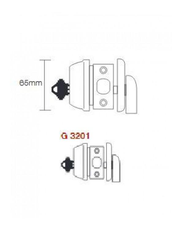 GERE G3200 Heavy Duty Cyl.Deadbolt M26D-Satin Chrome G3201