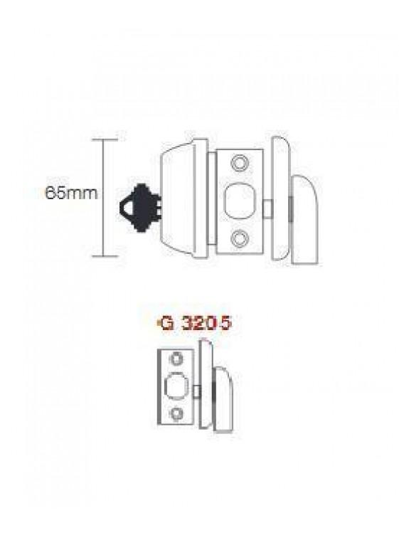 GERE G3200 Heavy Duty 1 Side Deadbolt M5-Antique Brass G3205