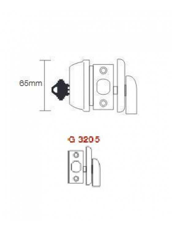 GERE G3200  1 Side Deadbolt M10B-Oil Rubbed Bronze G3205