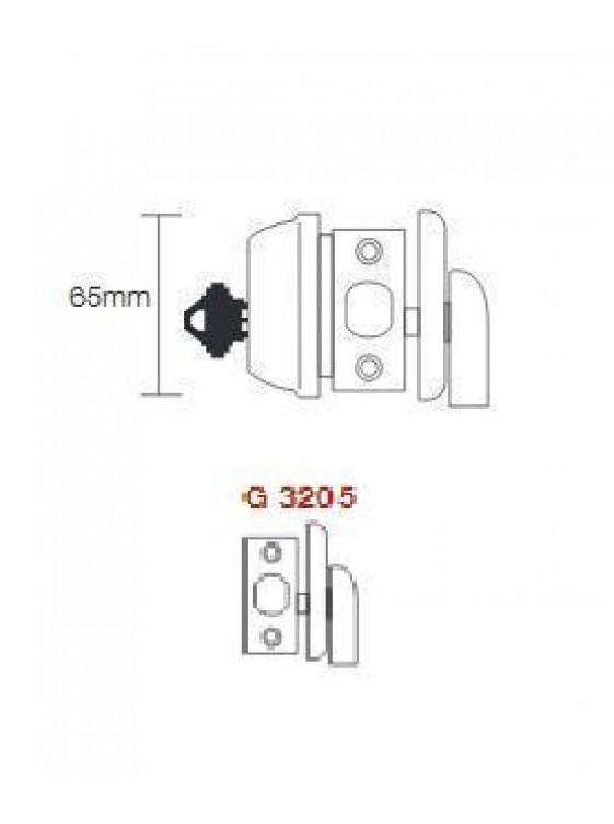 GERE G3200 Heavy Duty1 Side Deadbolt M26D-Satin Chrome G3205