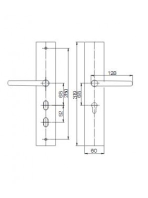 GERE  Function Leverset W Safety Bolt Ent M26D-Satin Gl8407