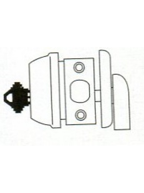 GERE G3100 Std.Duty Single Cyl.Deadbolt S.Chome G3101-M26D