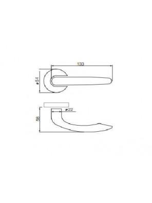 GERE  Hollow Lever Handle Passage M26D-Satin Chrome G1001
