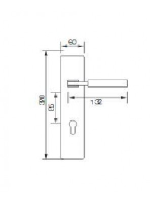 GERE  Function Leverset Right Hand M26D-Satin Chrome GDL3207