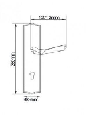 GERE  Function Leverset Left Hand M26D-Satin Chrome GL1541