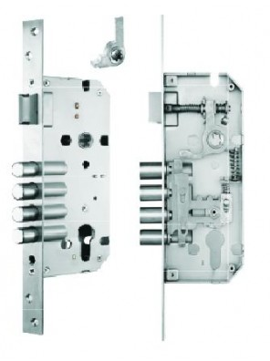 GERE 50x85mm Mortise S/S Lock Ent. GML8551-4SSR