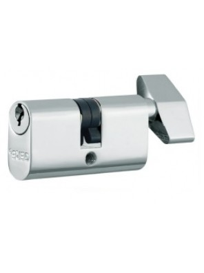 GERE 54mm Profile Cylinder Thumb turn S.Chrome GC541S-M26D