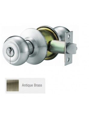 GERE ANSI 3 One Piece Cylindrical Lk Priv. A.Brass G9622-M5