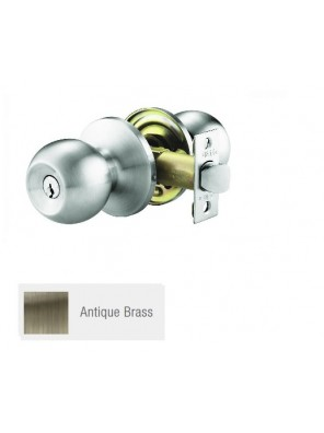 GERE ANSI 3 One Pc H/D Tubular Lock Ent. A.Brass G9771-M5