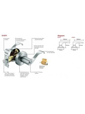 GERE ANSI 3 Tubular Leverset Ent. A.Copper G6311-M11