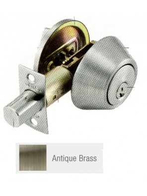 GERE G3100 Std.Duty Single Cyl.Deadbolt A.Brass G3101-M5
