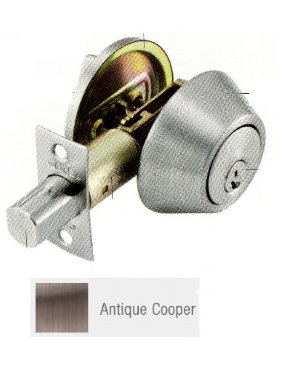 GERE G3100 Std.Duty Single Cyl.Deadbolt A.Copper G3101-M11
