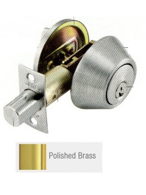 GERE G3100 Std.Duty Single Cyl.Deadbolt P.Brass G3101-M3