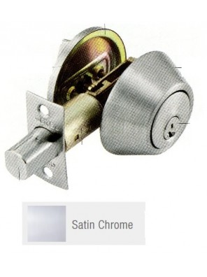 GERE G3100 Std.Duty Single Cyl.Deadbolt S.Chome G3101-M26D