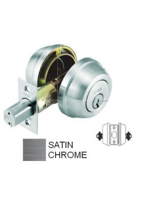 GERE G3200  Double Cyl.Deadbolt M26D-Satin Chrome G3202