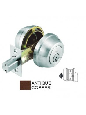 GERE G3200 H/D Single Cyl.Deadbolt M11-Antique Copper G3201
