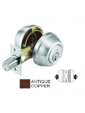 GERE G3200 H.Duty Double .Deadbolt M11-Antique Copper G3202