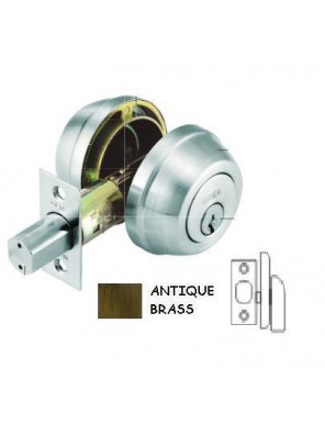 GERE G3200 Heavy Duty 1 Side Deadbolt M5-Antique Brass G3205