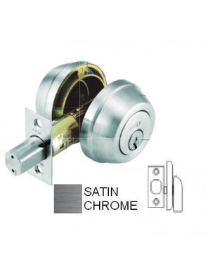 GERE G3200 Heavy Duty1 Side Deadbolt M26D-Satin Chrome G3205