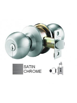 GERE G3860 Cyl. Lock-Comm S/Sided  M26D-Satin Chrome G3865