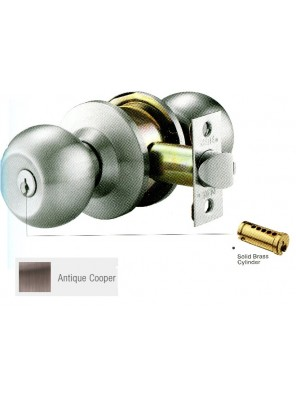 GERE G3860 Cylindrical Entrance Door Lock A.Copper G3861-M11