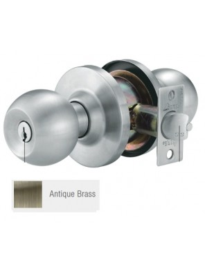 GERE H/D Cylindrical Lock Ent. A.Brass G9501-M5