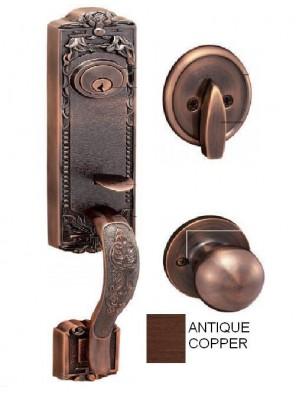 GERE  Solid Brass Handleset Dummy M11-Antique Copper G29005