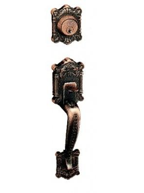 GERE Tubular Entrance Door Handle Set A.Brass G26821-M5