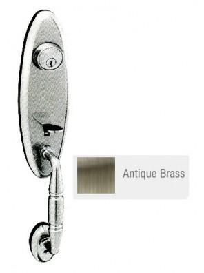 GERE Tubular Entrance Door Handle Set A.Brass G270750-M5