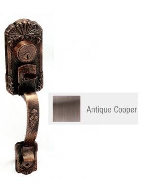 GERE Tubular Entrance Door Handle Set A.Copper G28081-M11