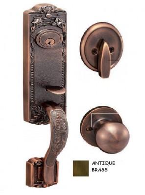 GERE Tubular Solid Brass Handleset M5 - Antique Brass G29001