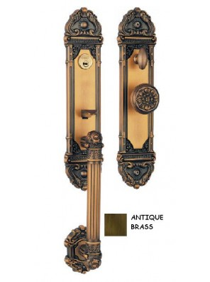 GERE Zinc Alloy Mortise Lever set Entrance M5 - Antiquo Brass DHL199