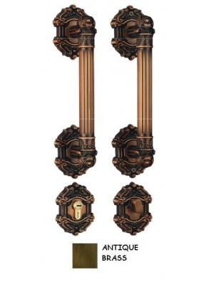 GERE Zinc Alloy Tubular Handleset Ent M5-Antique Brass Gd190