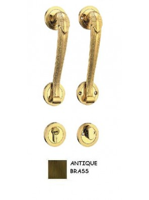 GERE Zinc Alloy Tubular Handleset Ent M5-Antique Brass GD3095