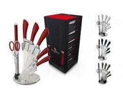 BERLINGER HAUS STAINLESS STEEL KNIFE SET (BURGUNDY RED)- 531.01.001