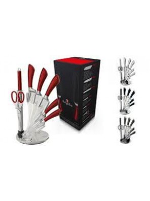 BERLINGER HAUS  Stainless Steel Knife Set (Burgundy Red)-531.01.001