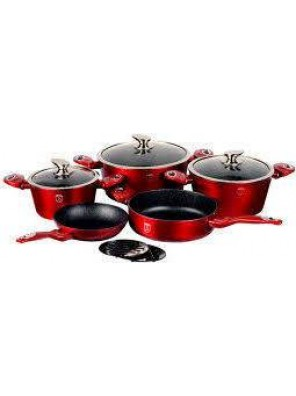 BERLINGER HAUS 10 pcs Cookware Burgundy Metallic Line-531.08.004