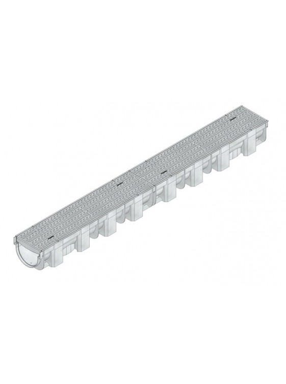 HAURATON  Top X Channel With Mesh Grating Pp Silver 1m-44325