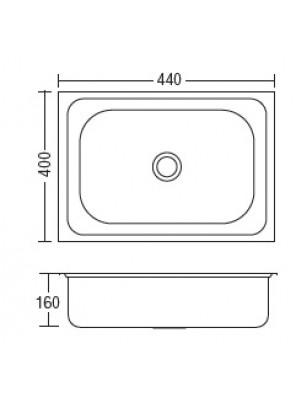 HEAD S/S Kitchen Sink With 100mm Waste HDKS-4540