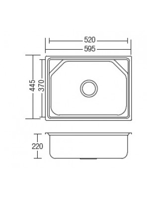 HEAD S/S Kitchen Sink With 100nn Waste HDKS-6045
