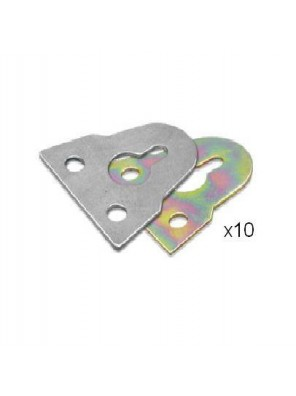 "1-1/2"" (38mm) M.S Rainbow Plated Hanger-Rb (Han202)-10pcs/pk"