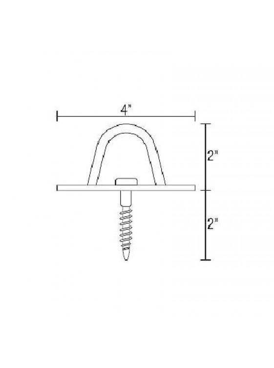 123 M.S Screw In Fan Hook-Zp (Hk3001)