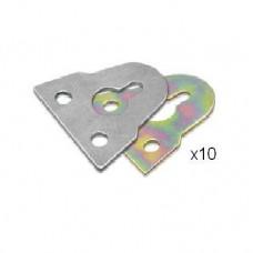 "1-1/2"" (38mm) M.S Rainbow Plated Hanger-Rb (Han202)-10pcs/pk"