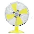"HOUM 12"" Metal Desk Fan (4 Metal Blades,3speed) R12 YELLOW"