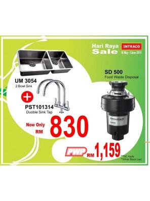 BARENO UM3054 Sink + Sink Cold Tap PST101314 (PWP Kleengard)