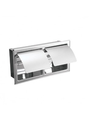 J.SUISSE -Double S/Recessed Toilet Roll Holder WBBA100128CP