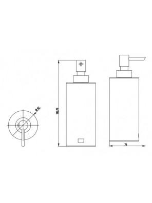 J.SUISSE -Gdc990104 Countertop Soap Dispenser WBBA100273CP